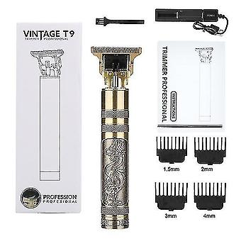 Hair clippers trimmers t9 usb rechargeable hair clipper electric hair trimmer cordless shaver beard razor 0mm men barber