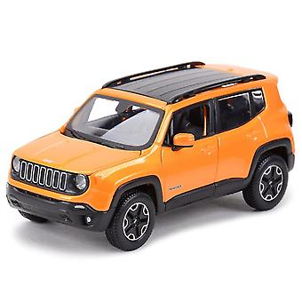 Toy cars 1:24 jeep renegade suv off road vehicle static die cast vehicles collectible model car toys orange
