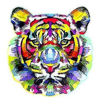 Jigsaw puzzles tiger head wooden jigsaw puzzle piece game for kids and adults a4