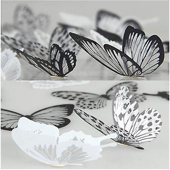 36 Pcs 3d Autocollants muraux Papillons Chambre Décor mural