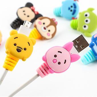 2db Disney kábelvédő Minnie Stitch Töltő Usb kábel tekercselő