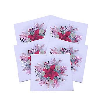 100 stuks kleurrijke tissue cocktail papieren servet heldere drank luncheon servetten 2 laags voor verjaardag, thuis, keuken, feestdecoratie