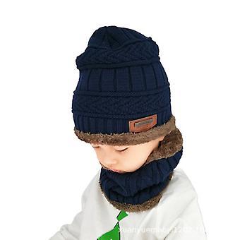 Gyermek gyapjú kalap és sál készlet