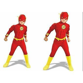 Gyermek a Flash Muscle Mellkas Outfit Fancy Jelmez Ruha Fiúk