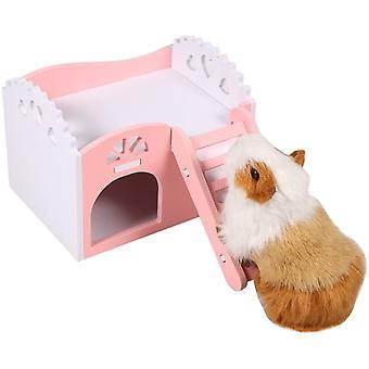 Animal Hamster Rat Cochon d'Inde Petit Animal Château Maison endormie Nid Exercice Jouet 2 couches avec conception d'escalier