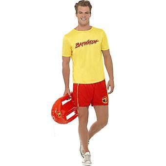 Baywatch kostium mężczyzn Beach boy oryginalny zestaw 2-częściowy