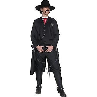 Sheriff costum DELUXE cowboy Sheriff costum de vest