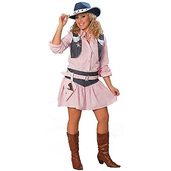 Women costumes  Ladies pink Cowgirl fancy dress