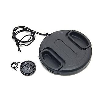 JJC 72mm Plastic Snap-on Lens Cap with lens cap keeper for Cameras and Camcorders