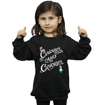 Disney Girls Alice In Wonderland Curiouser Sweatshirt