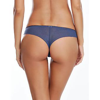 Affinitas Valerie Nightshadow Blue Brazilian Thong A12641