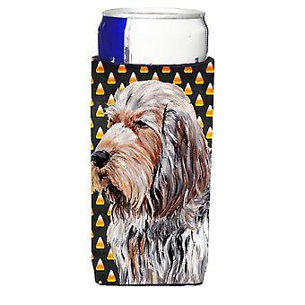 Otterhound Candy Corn Halloween Ultra Beverage Insulators for slim cans