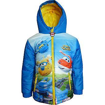 Boys DHQ1480 Super Wings Winter Hooded Jacket / Coat