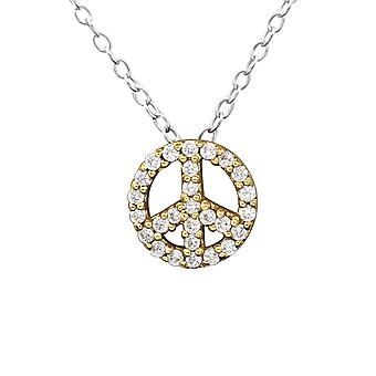 Peace - 925 Sterling Silver Jewelled Necklaces - W27820X