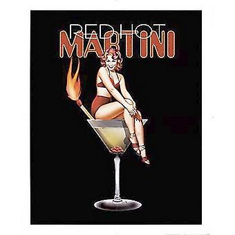 Red Hot Martini Poster Print by Ralph Burch (16 x 20)