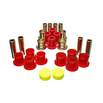 Energy Suspension 5.3139R Control Arm Bushing Set Red Front Performance Polyurethane Control Arm Bushing Set