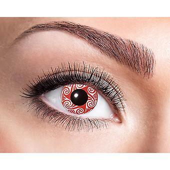 Lentes de contacto rojo Vortex motivo