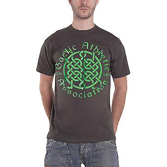 Official Mens GAA T Shirt Celtic Hurling Football Sport Logo New Charcoal Grey