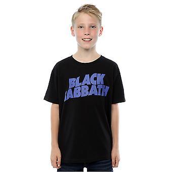Black Sabbath мальчиков волнистые логотип T-Shirt