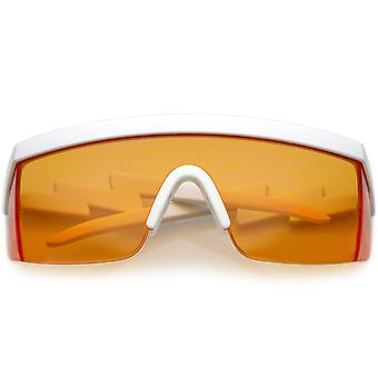 شبه كبيرة الحجم حملق مؤطرة درع نظارات لون العدسة 60 مم
