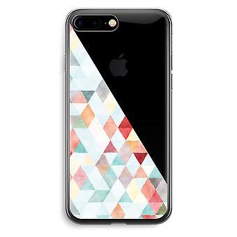 iPhone 7 Plus transparentes Gehäuse (Soft) - farbige Dreiecke Pastell