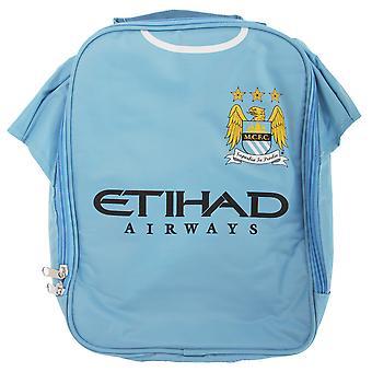 Manchester City FC Childrens drenge officielle isoleret fodbold Shirt frokost taske/køler
