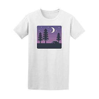 Night Time Wald Design T-Shirt - Bild von Shutterstock