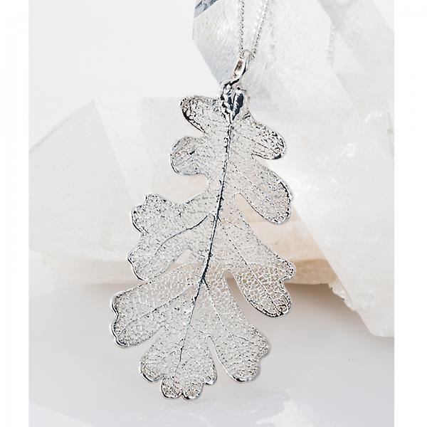 Shipton and Co A Real Oak Leaf Revealed In Silver Intricacy