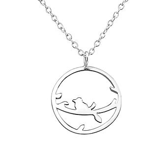 Bird - 925 Sterling Silver Plain Necklaces - W35118x