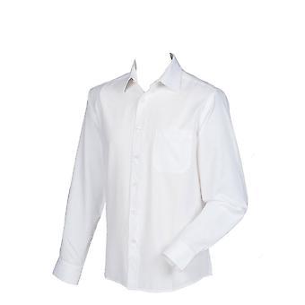 Hombres de Henbury absorbe la camisa de manga larga Anti-Bacterial