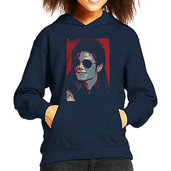 Michael Jackson Portrait 1990 Classic Aviator Sunglasses Kid's Hooded Sweatshirt