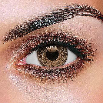 Two-Tone Mystic Chocolate Brown Contact Lenses (Pair)