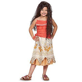 Moana klassinen Disney Polynesian prinsessa Maui taapero tyttöjen puku 3T-4T
