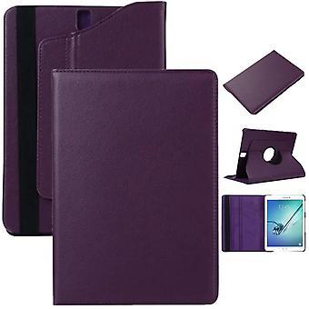 Schutzhülle 360 Grad Lila Tasche für Samsung Galaxy Tab S3 9.7 T820 T825