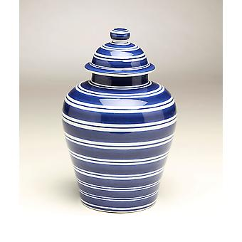 AA Importing 59958 Blue & White Ginger Jar