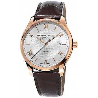 Frederique Constant Mens Classics Index Automatic Brown Leather Strap FC-303MV5B4 Watch