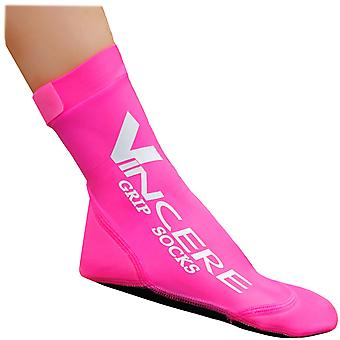 Sand Socks Grip Bottom Neoprene Athletic Socks - Pink