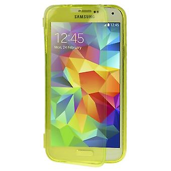 Mobile Shell flip cross for mobile Samsung Galaxy S5 / S5 neo yellow