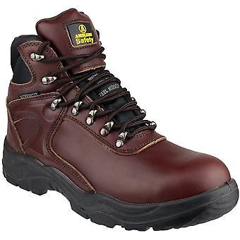أمبليرس سلامة FS31 رجالي جلد سلامة ماء أحذية براون
