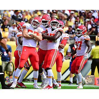 2018 Kansas City Chiefs Touchdown celebração Photo Print