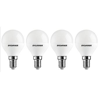 4 x Sylvania ToLEDo Ball E14 V3 5.5wx Tageslicht LED 470lm [Energieeffizienzklasse A +]