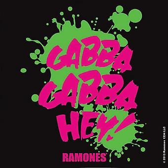 Ramones Coaster Gabba Gabba band logo nye officielle 9,5 cm x 9,5 cm enkelt cork
