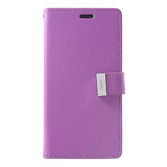 Mercury GOOSPERY Rich Diary for iPhone XS Max-Purple