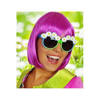 Briller briller med blomster grøn