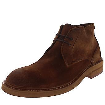Mens H por Hudson Corelli Chukka Smart Office camurça marrom Ankle Boots