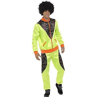 Kostým kombinéza, mens, neonové zelené, se bundou & kalhoty