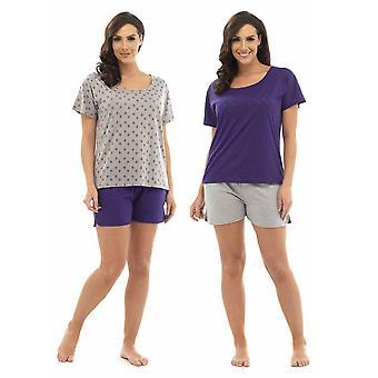 2-Pak damer Tom frankerne stjerne udbrændthed T-Shirt Top & Shorts pyjamas Lounge slid