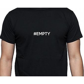 #Empty Hashag vacía mano negra impresa camiseta