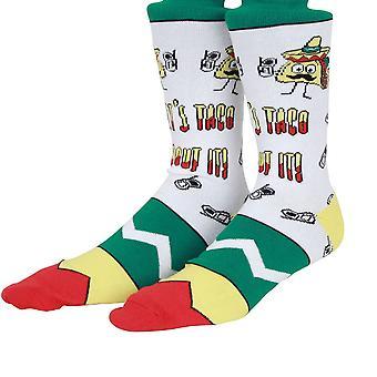 OddSox Mens Crew sokken breien ~ laat Taco ' Bout