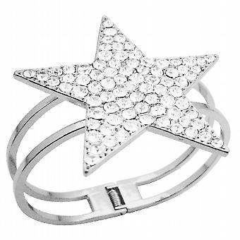 Sterne-Manschette Armband Bling Bling wie Diamant Sterne Manschette Armband w / CZ